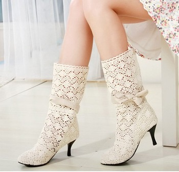 Wholesale Fashion women's cut-outs Boots , Spring and Summer Boots for woman,  High -heeled Shoes size 35-43 Free Shipping1051
