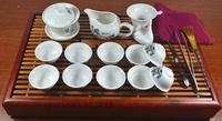 elegance Porcelain Tea set with tray,landscape  pattern ceramic tea sest ,tea board.gaiwan,small tea cups Free shipping !!!