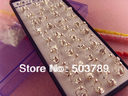Free Shipping! Wholesale 40pcs 925 sterling silver balls link charm stud earrings(China (Mainland))