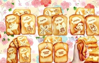 14cm Jumbo sweet scented cartoon toast squishy cell phone charm