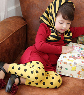 2013 new childrens clothing girls Polka Dot Leggings Fashion children trousers pants for skirts 5-size mixed lot free shipping