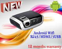 Amazing Android Wifi DLP projector mini portable proyector DLNA RJ45 wireless USB HDMI cinema audio videoprojecteur 1920x1080