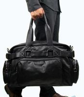 MEN TRAVEL BAGS BIG SPORT DUFFEL BAG Outdoor Packs Bucket Shoulder Bags men Tote  PU leather handbag  men bags totes