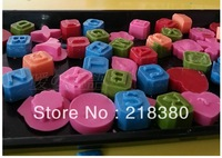 Silica gel mould 26 letter mould chocolate mould biscuits cake mould handmade soap