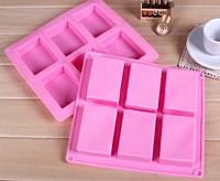 5 Pieces 6 Holes Soap Mould 23.5cm Big Rectangle DIY Handmade Soap Moulds Best Silicone Mould  (100g soap / hole)