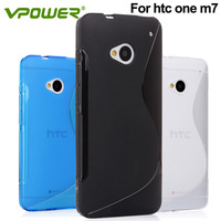 Original Vpower  for HTC ONE M7 TPU Case with free screen protector for gift, for htc one case Free & Drop shipping