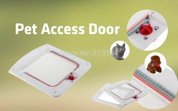 Lockable Cat Flap Door Kitten Dog Pet Lock Heavy Duty suitable for any wall or door