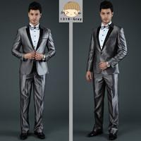 2014 formal men's business suit high quality slim fit dress suit