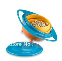 Free Shipping  Universal Spill Resistant Kids Gyroscopic Bowl with Lid