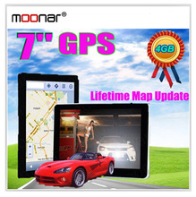 7 inch GPS Car Navigation MTK 4GB Capacity UK EU AU NZ Maps Speedcam POI with Sunshade DA0552