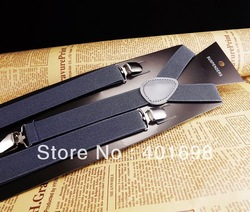 Fashion solid grey color clips suspenders SFSP13A26(China (Mainland))
