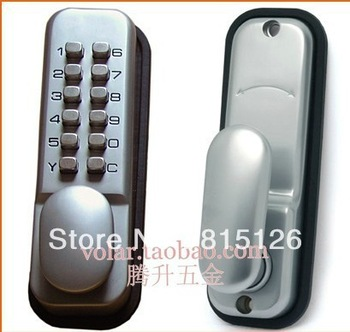 Free shipping Mechanical combination lock, the password locks, trick lock, the wooden door combination lock