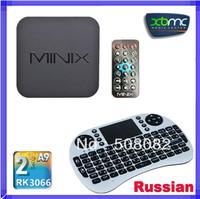 MINIX NEO X5 RK3066 Google TV Player Smart TV BOX Dual Core 1GB RAM 16GB ROM + Russian Rii mini i8 Air Mouse keyboard Touchpad