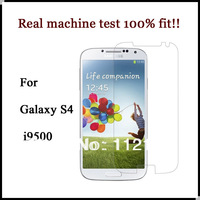 500pcs/lot i9500 Front Clear Mobile Phone Screen Protector Guard Film For Samsung GALAXY S4 Screen Protector + 500pcs cloth