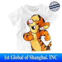 Wholesale New Arrival  5pcs/lot High Quality Boys T Shirt Kids Children Tops Summer Wear Short Sleeve Clothing Tiger T SHIRT