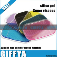 10pcs/lot Exclusive sales Car Non Slip Mat Powerful Silica Gel Magic Sticky 5 colors car antislip mat PHONE Pelastic Materials