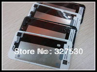 Wholesale - Back Glass Battery Housing Door Cover Replacement Parts for iphone 4/4S Black White Color 100pcs DHL free shipping