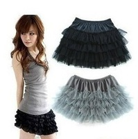 four layers nets yarn princess chiffon skirts render cake skirt fashion gril summer mini skirts