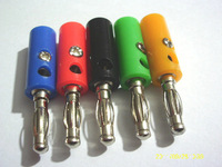 50 PCS x 5 Colors Nickel Plated Banana Plug Male 39mm
