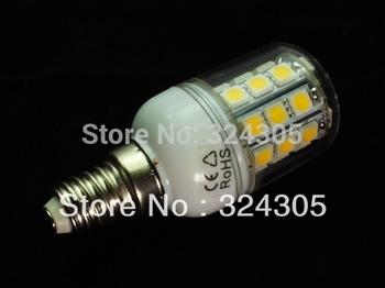 Wholesale E14 5W 30 SMD 5050 LED  High Power Light White/ Warm white bedroom light corn spot lamp Allimium body Long life