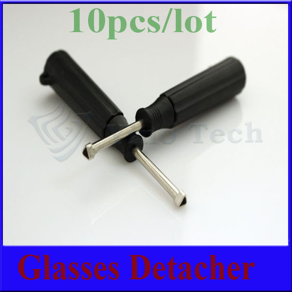 10pcs/lot Mini style Sunglasses tag detacher optical tag detacher remover.(China (Mainland))