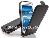 Galaxy s4 Leather Case,Real Leather Flip Pouch Case  for samsung galaxy s4 S IV i9500 with DHL free shipping