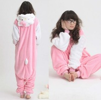 New Adult Pokemon Costume White Sleeve Hello Kitty Cat Kigurumi Japen Pajamas Cosplay Sleepwear