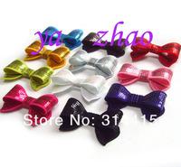"2.8"" sequin bows,  Mix 12colors , 60pcs/lot ,Trail order!"