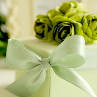 The Candy Gifts Chocolate Handmade Favors Boxes With Lemon Green Flower And Ribbon Set of 100 Free Shipping Wholesale