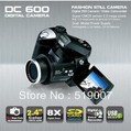 "DC black Color DC600 DC-600 Digital Camera 12.0MP 2.4"" LTPS TFT LCD 270 Degree Rotation 8 X Digital Zoom PC"