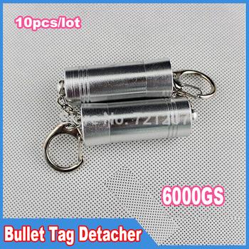 10pcs/lot, 6000gs EAS Bullet detacher Security tag detacher stopLock Magnetic Keys detacher