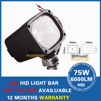 "2PCS 4"" 55W HID Working Light, Free shipping,55W Hid Xenon Work Light IP67 Hid Working Lamp H3 6000K 12V Flood Beam Black"