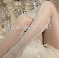 Free Shipping Fashion Sexy Women's Transparent Thin Pantyhose Ladies' Silk Stockings Bright Leggings