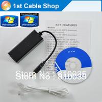 New arrival 1pcs/lot  external USB 56k USB fax modem Supports win7&advanced power management