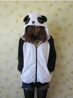 2013 Winter Spring Lovely Panda Hoodie Pokemon Animal Hoody Sweatshirt Cotton White Coat Cosplay Costume