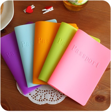 passport cover ,candy-colored silicone cover for passport,dustproof waterproof color passport holder(China (Mainland))
