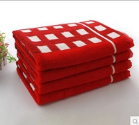 FREE SHIPPINE Plaid towel set bamboo fiber 70*140cm 460g bath towel and  towel for  adult D134 4high quality