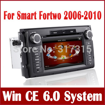 "7"" 2-Din Car DVD Player for Smart Fortwo 2006 2007 2008 2009 2010 w/ GPS Navigation Bluetooth Radio TV Auto Video Tape Recorder"