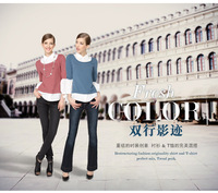 S-XXL!! 3 colors !! 2013 Autumn EU new fashion  Women&Lady Pullover sweater/Long sleeve Shirt , office knitted sweater Tops