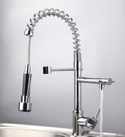 Kitchen Sink  Pull out& Swivel Spray in ottone cromato Tap Faucet Mixer JN8525