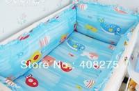 2013 Fashion 8 pcs Kids bedding set Children Bedding Bag Sheet Pillowcase Baby Bumper 100% Cotton bedclothes Free Shipping Ocean