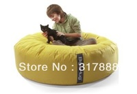 Free shipping ORIGINAL ISLAND Yellow Huddle Bean Bag,large beanbag seat cushion, round relax bean bag beds