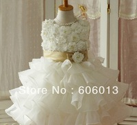 2014 retail baby Full cover flower floral dress dress girls pricess   Ball grown  TUTU