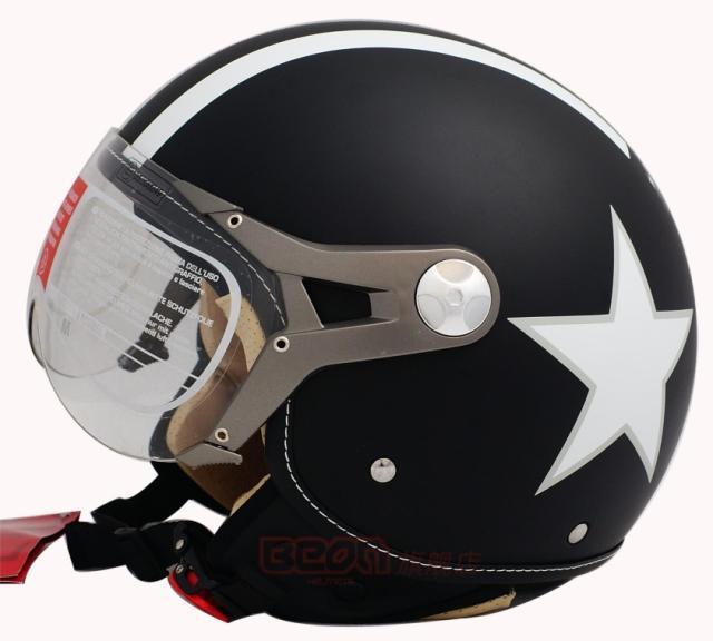 Livraison gratuite mode halley beon vintage. casque de moto, demi casque de vélo électrique, lucky star, la cee a approuvé