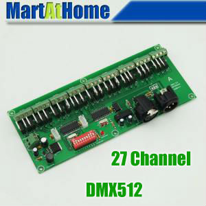 10pcs/lot 27 Channel Easy DMX LED Controller, DMX512 Decoder& Driver #BV142 @SD