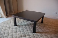 Free shipping  Japanese traditional furniture Square 75cm black color  Kotatsu tale for sale