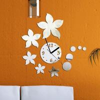 New product for 2014 3D best Diy mirror sun wall art clock home decoration fashion mirror clock  art clock decor Z032