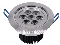 Free shipping Retail LED downlight ,4pcs/lot,85-265v ac  9w  7*1pcs  led Ceiling Lamp led recessed downlight
