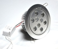Free shipping 4pcs/lot, led dimmable 11w  9*1w  185-245v ac LED Ceiling Lamp led recessed downlight warm white cool white