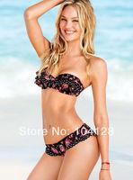 2014 New VS Floral print bikinis set Sexy Women Bikini sexy bra two-piece separate bikini Flower Swimwear Swimsuit Beachwear #05